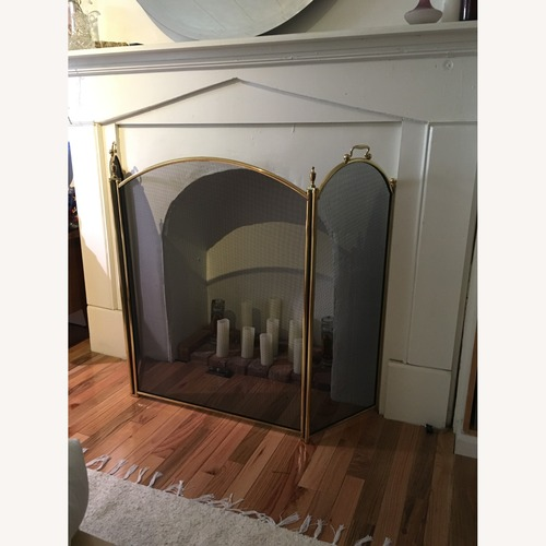 Used Vintage Brass Fireplace Screen for sale on AptDeco