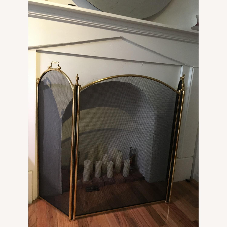 Vintage Brass Fireplace Screen - image-3