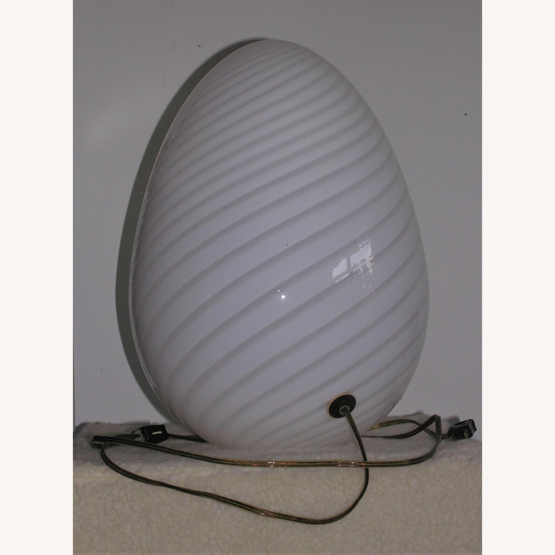1960s Murano Venini Egg Lamp - image-1