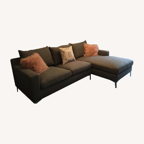 Used Interior Define Gray Sloan Sectional Sofa for sale on AptDeco
