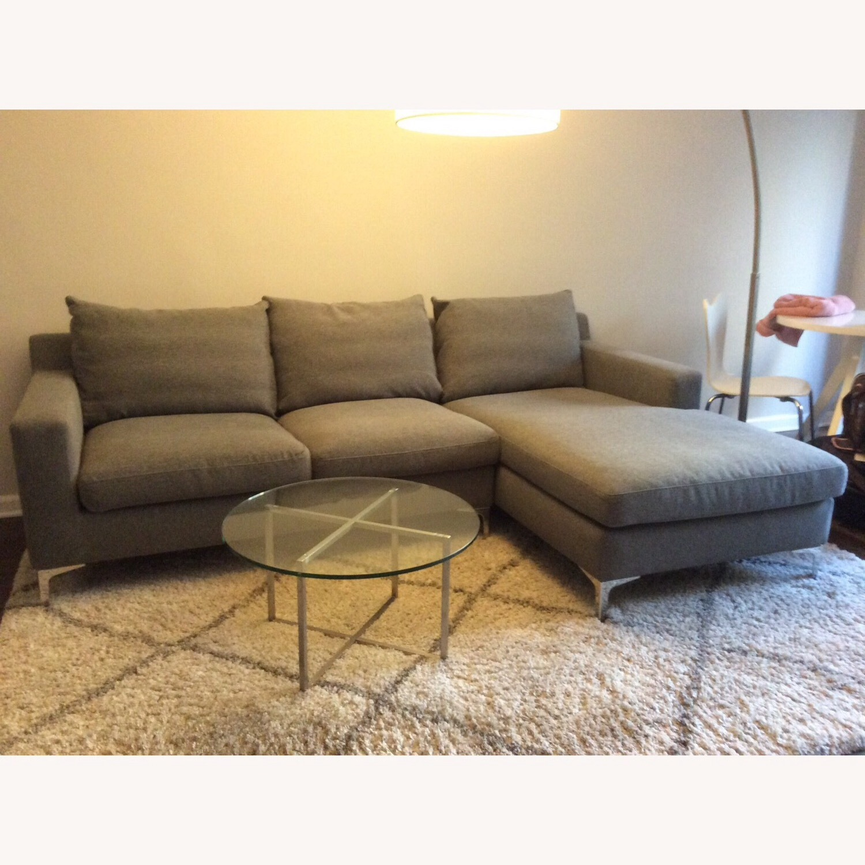 Interior Define Gray Sloan Sectional Sofa - image-4