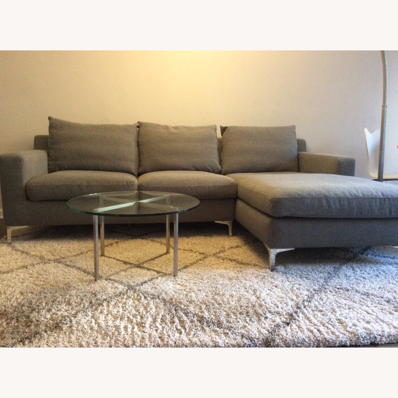 Interior Define Gray Sloan Sectional Sofa - image-6