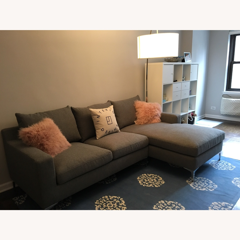 Interior Define Gray Sloan Sectional Sofa - image-2