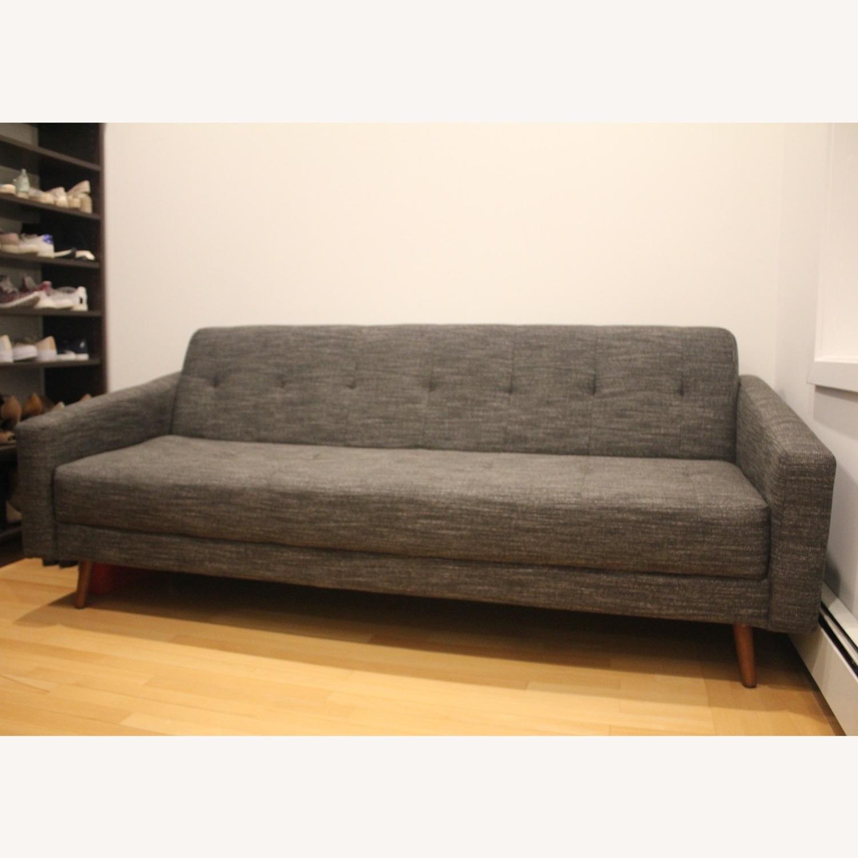 West Elm Kiko Futon Sofa Charcoal Grey - image-1