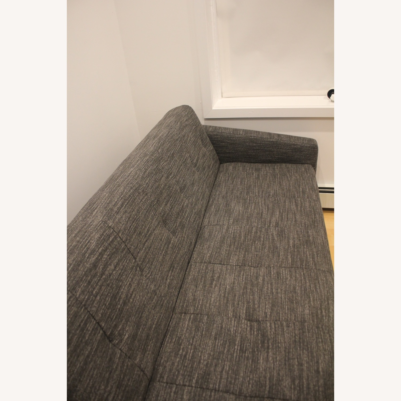 West Elm Kiko Futon Sofa Charcoal Grey - image-5