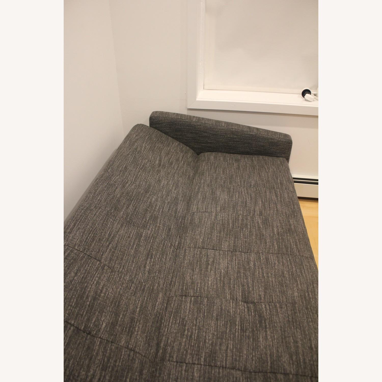 West Elm Kiko Futon Sofa Charcoal Grey - image-4
