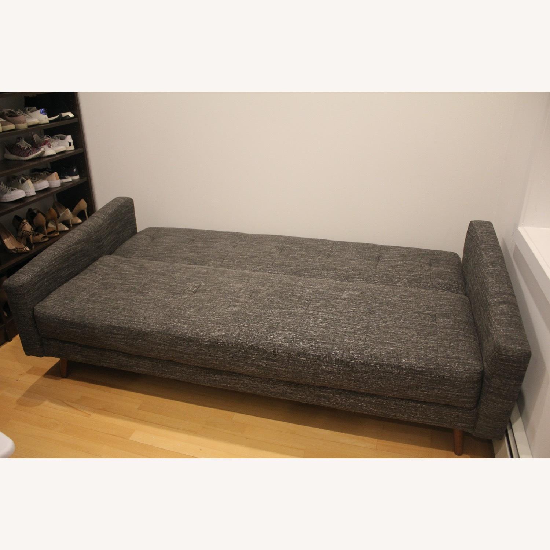West Elm Kiko Futon Sofa Charcoal Grey - image-2