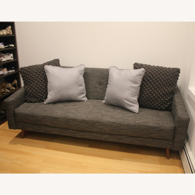 West Elm Kiko Futon Sofa Charcoal Grey - image-0