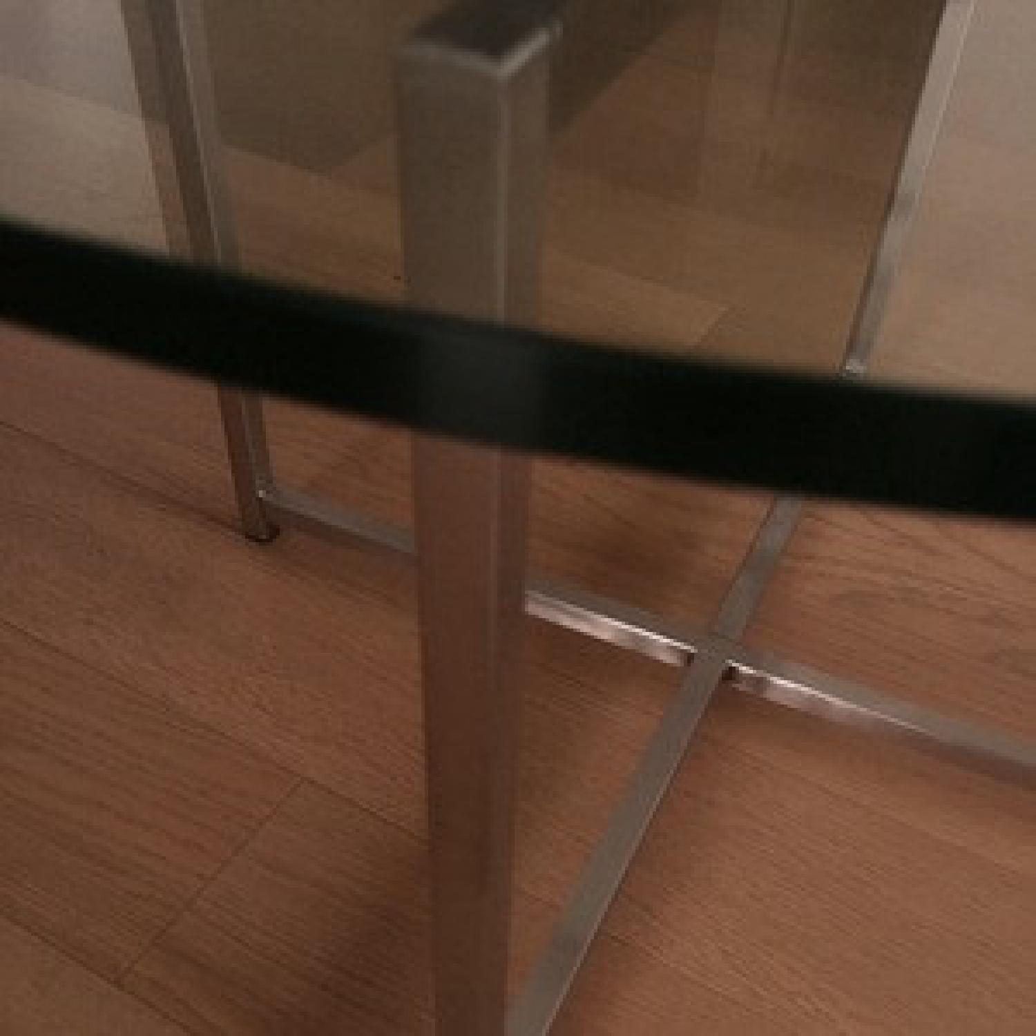 Room & Board Cocktail Table-Stainless Steel Legs - image-2