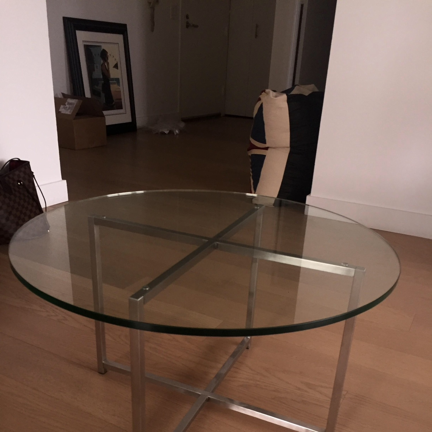 Room & Board Cocktail Table-Stainless Steel Legs - image-0