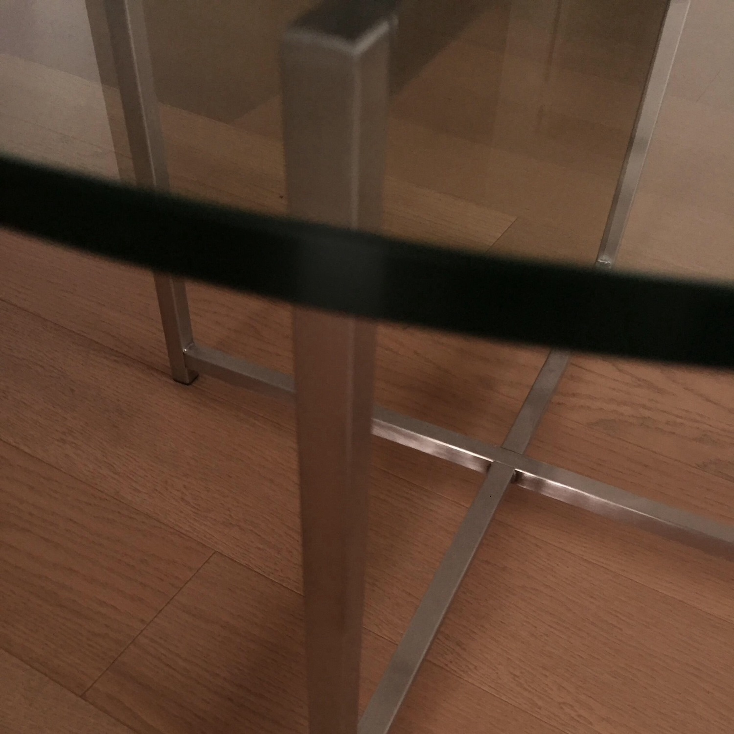 Room & Board Cocktail Table-Stainless Steel Legs - image-1