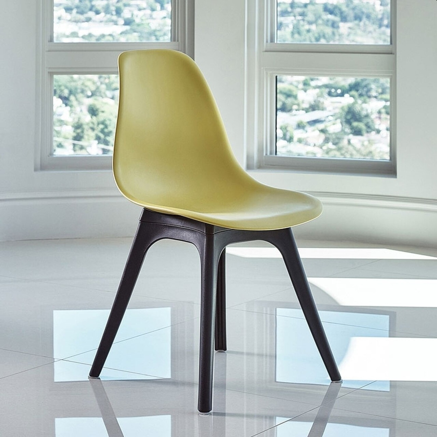 Side Chair In Lemon Color Finish - image-2