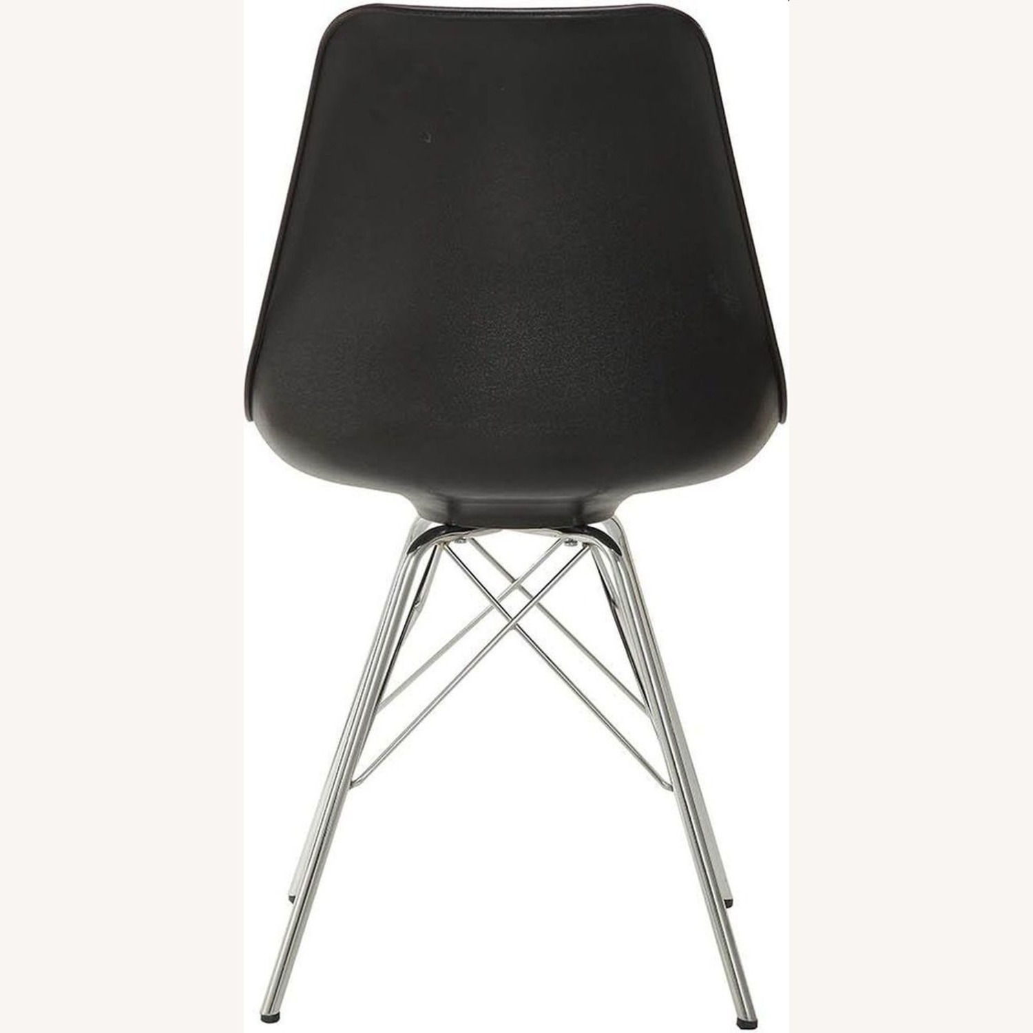 Modern Black Side Chair W Padded Cushion - image-2