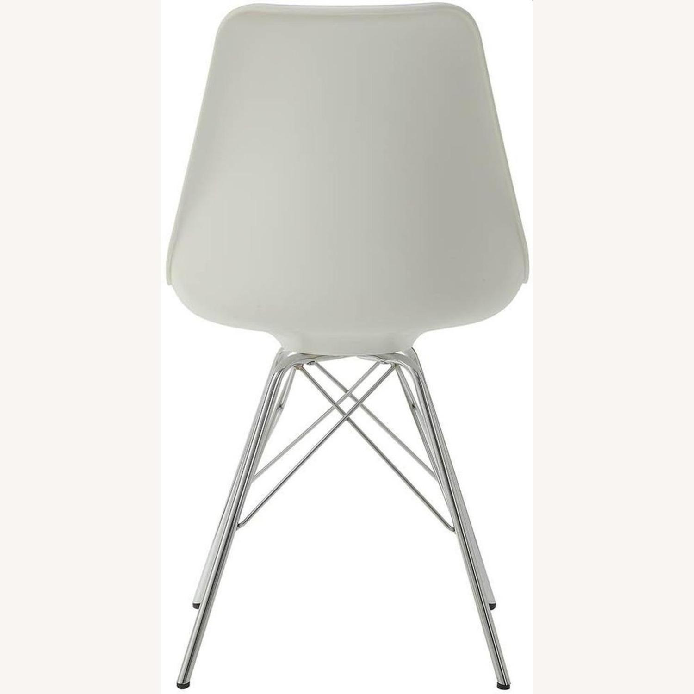 Modern White Side Chair W Padded Cushion - image-3