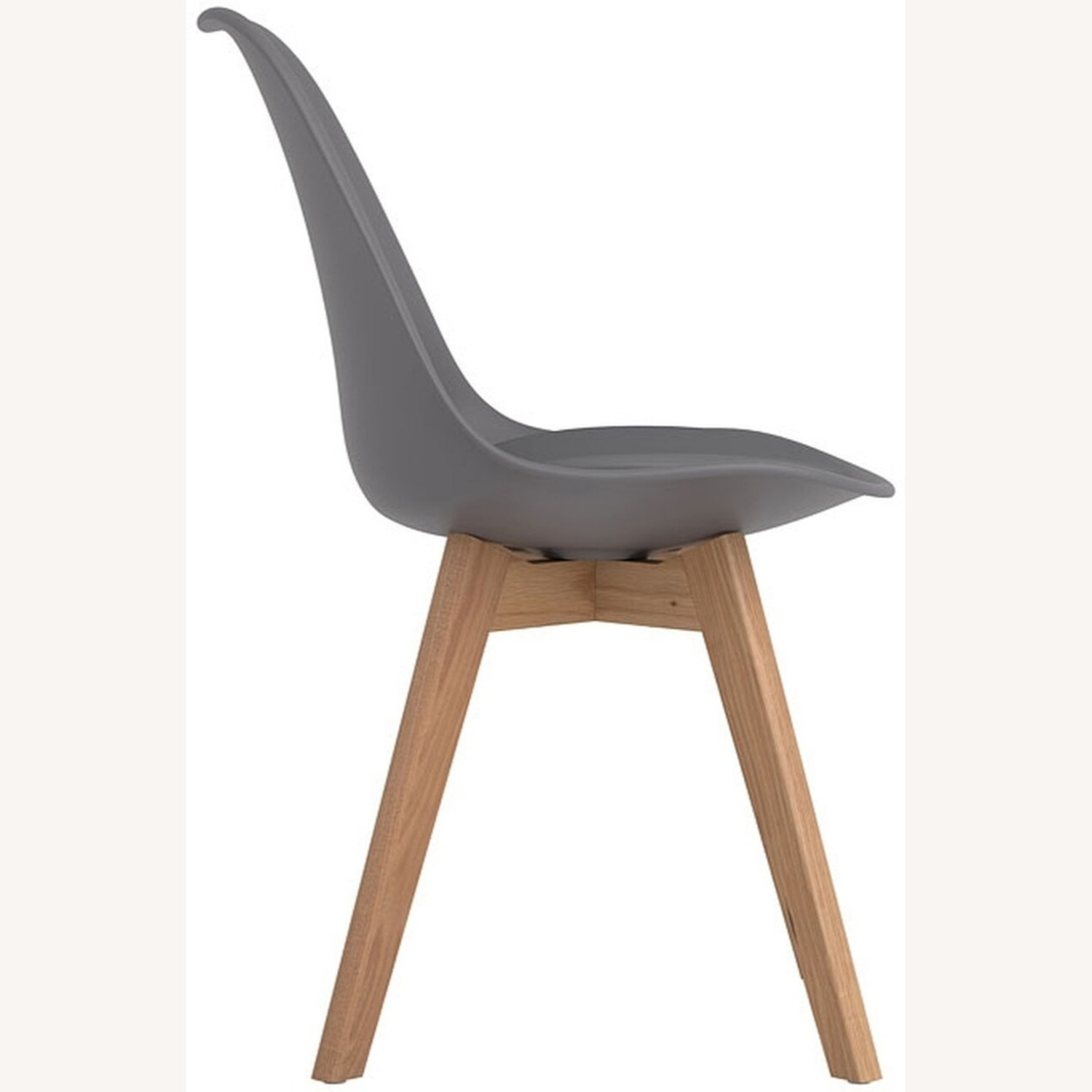 Modern Side Chair In Grey Leatherette - image-2