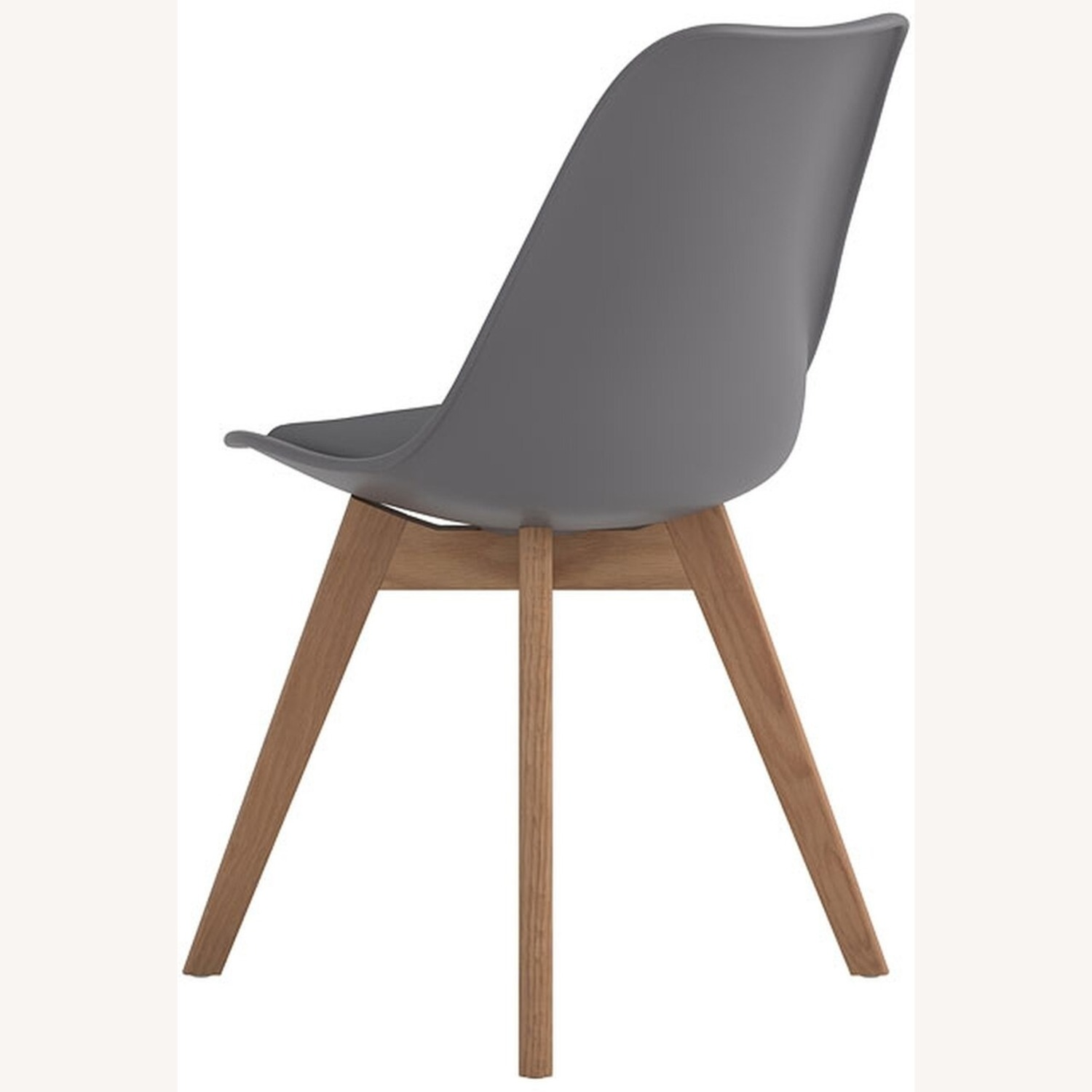 Modern Side Chair In Grey Leatherette - image-3