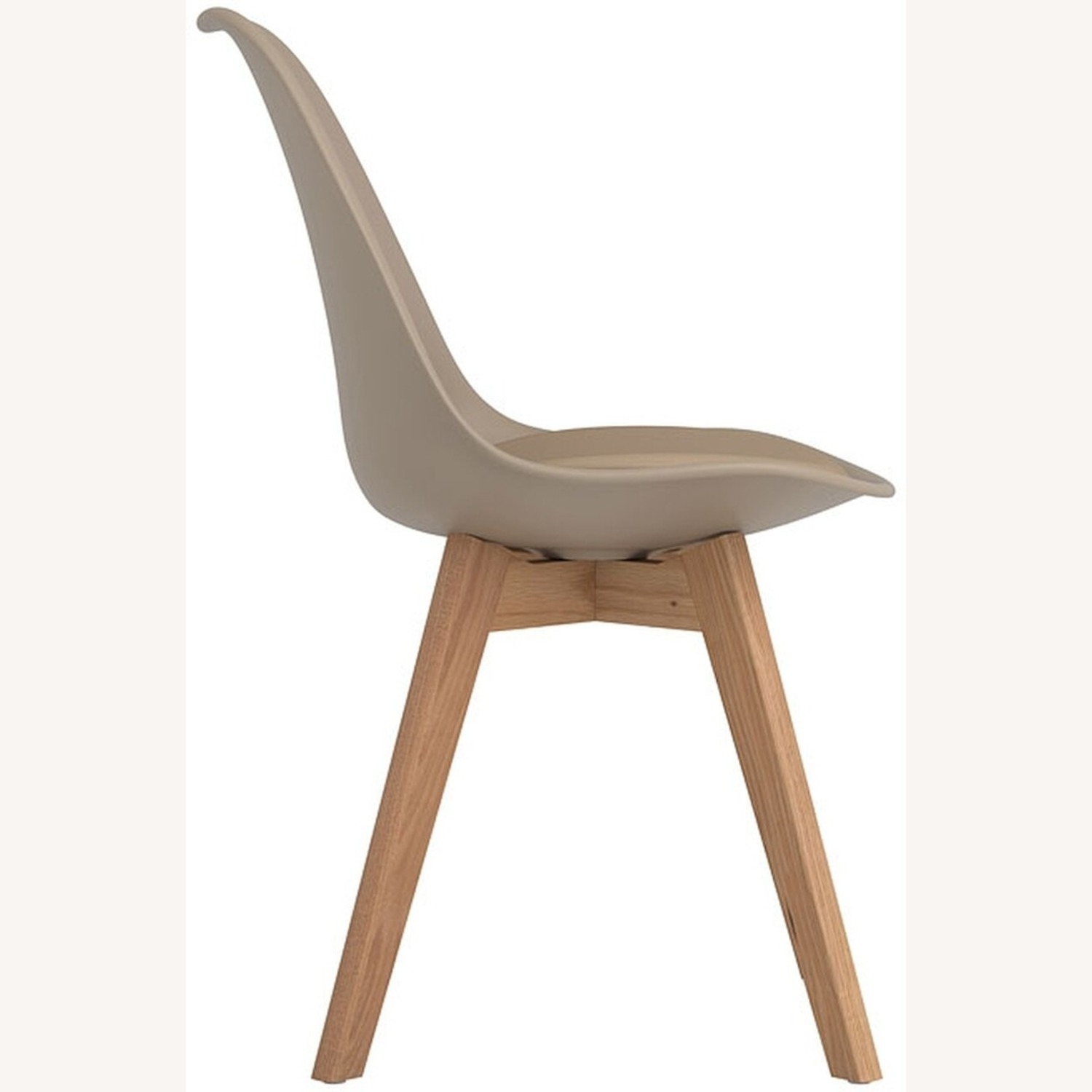 Modern Side Chair In Tan Leatherette - image-2