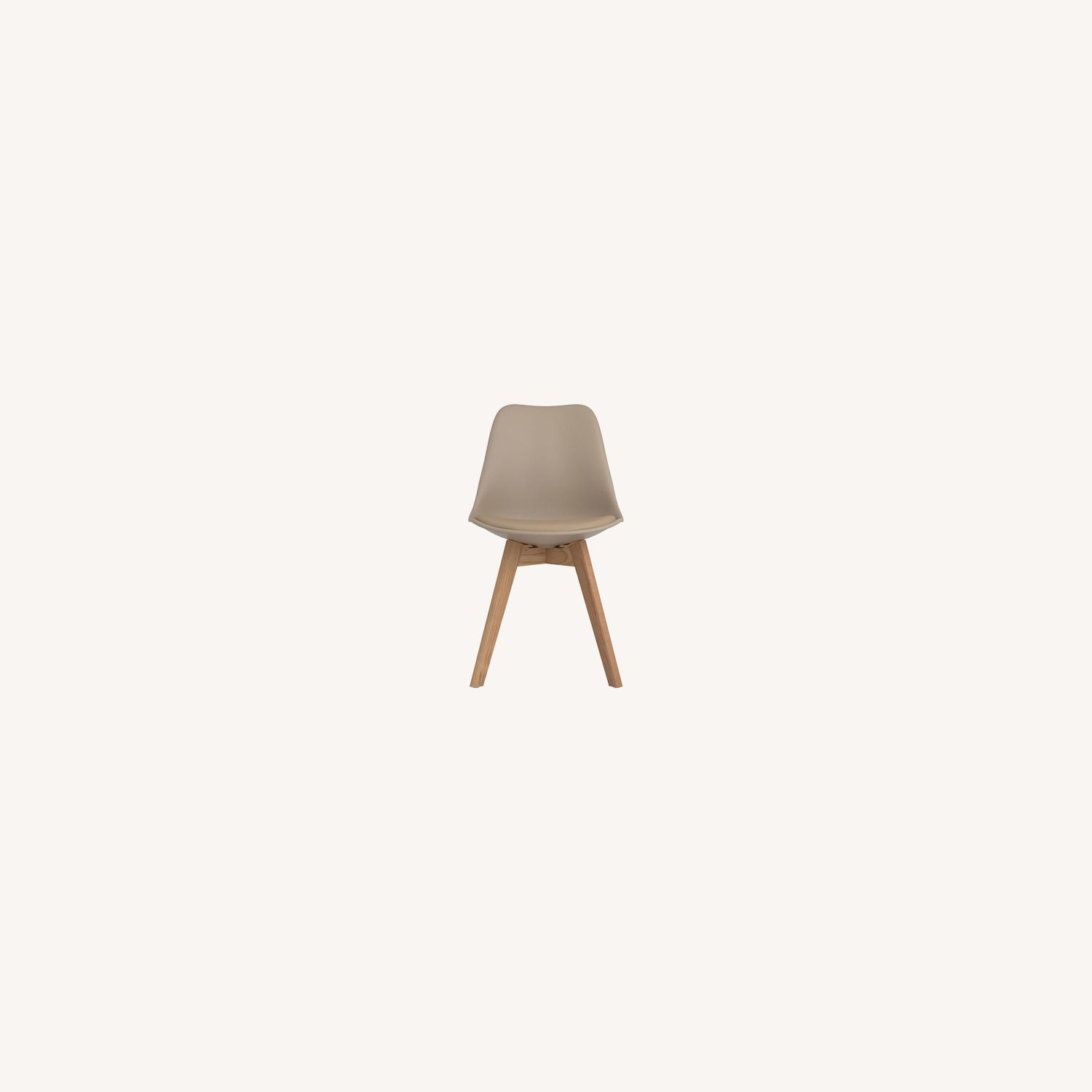 Modern Side Chair In Tan Leatherette - image-4