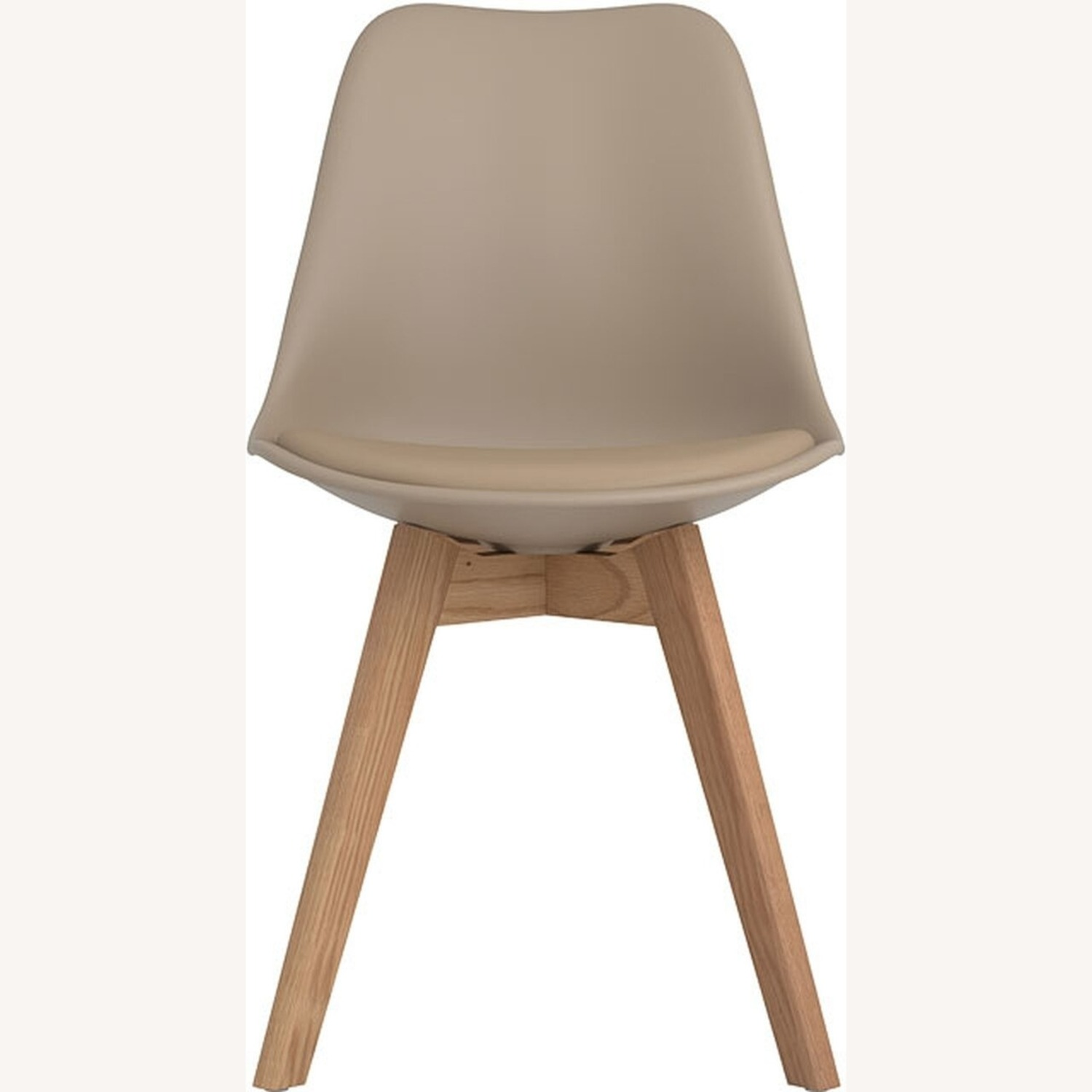 Modern Side Chair In Tan Leatherette - image-1