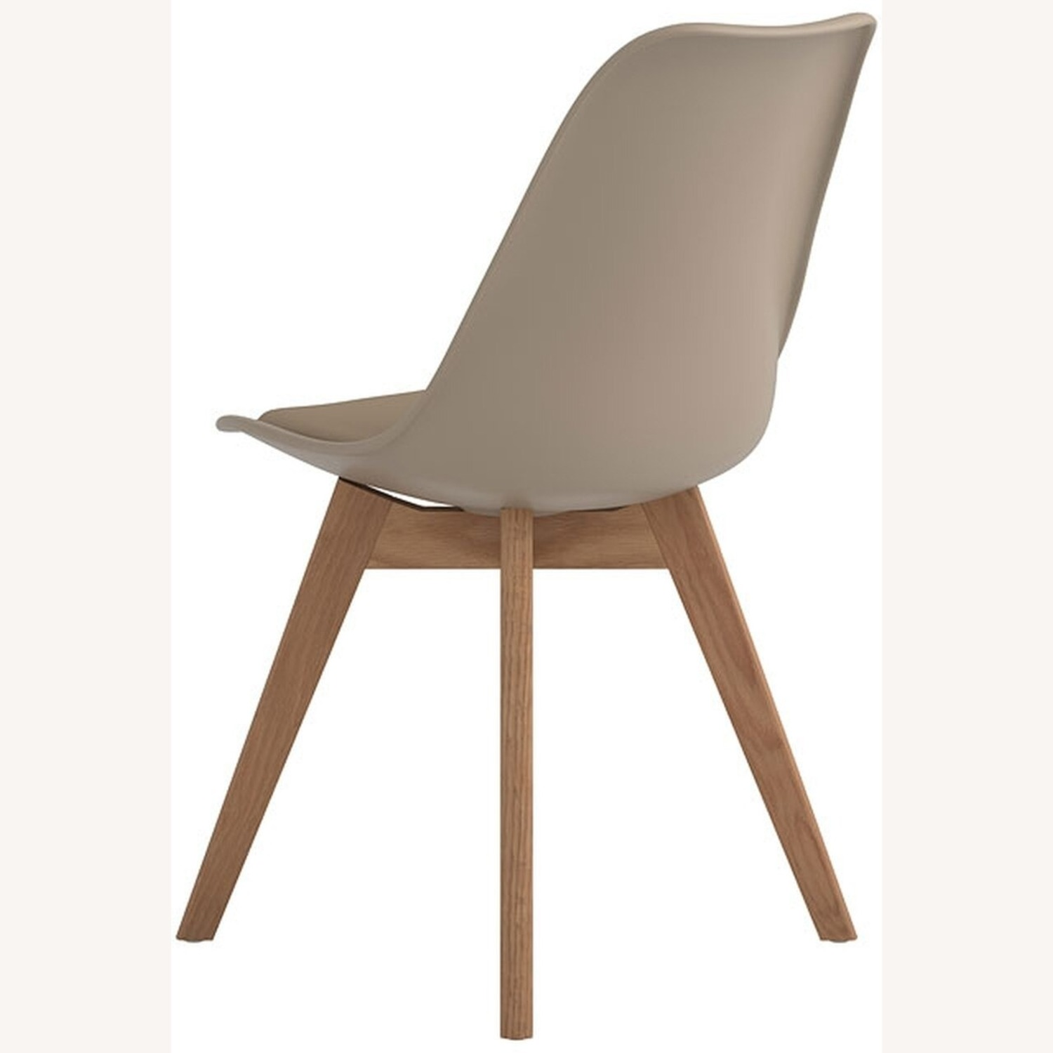 Modern Side Chair In Tan Leatherette - image-3