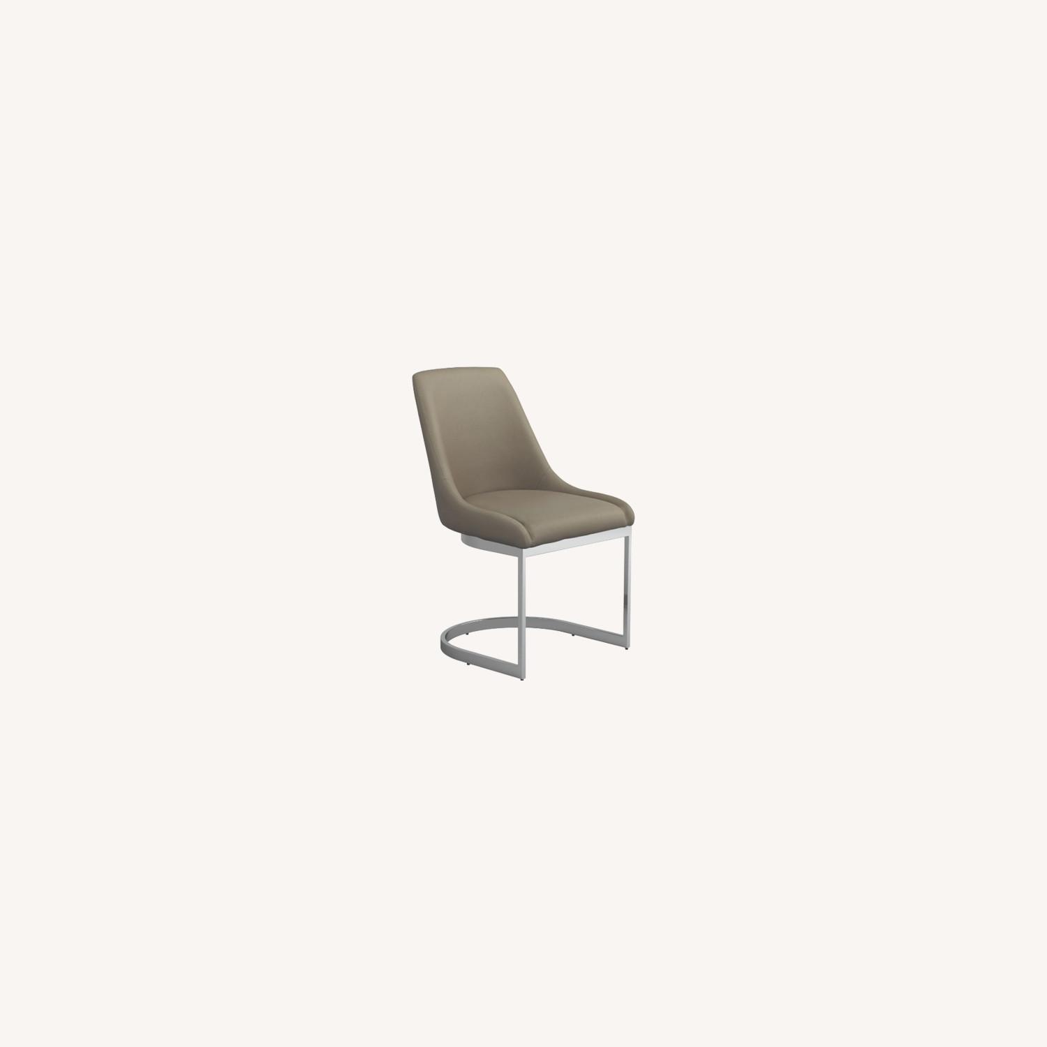 Side Chair In Taupe Leatherette - image-4