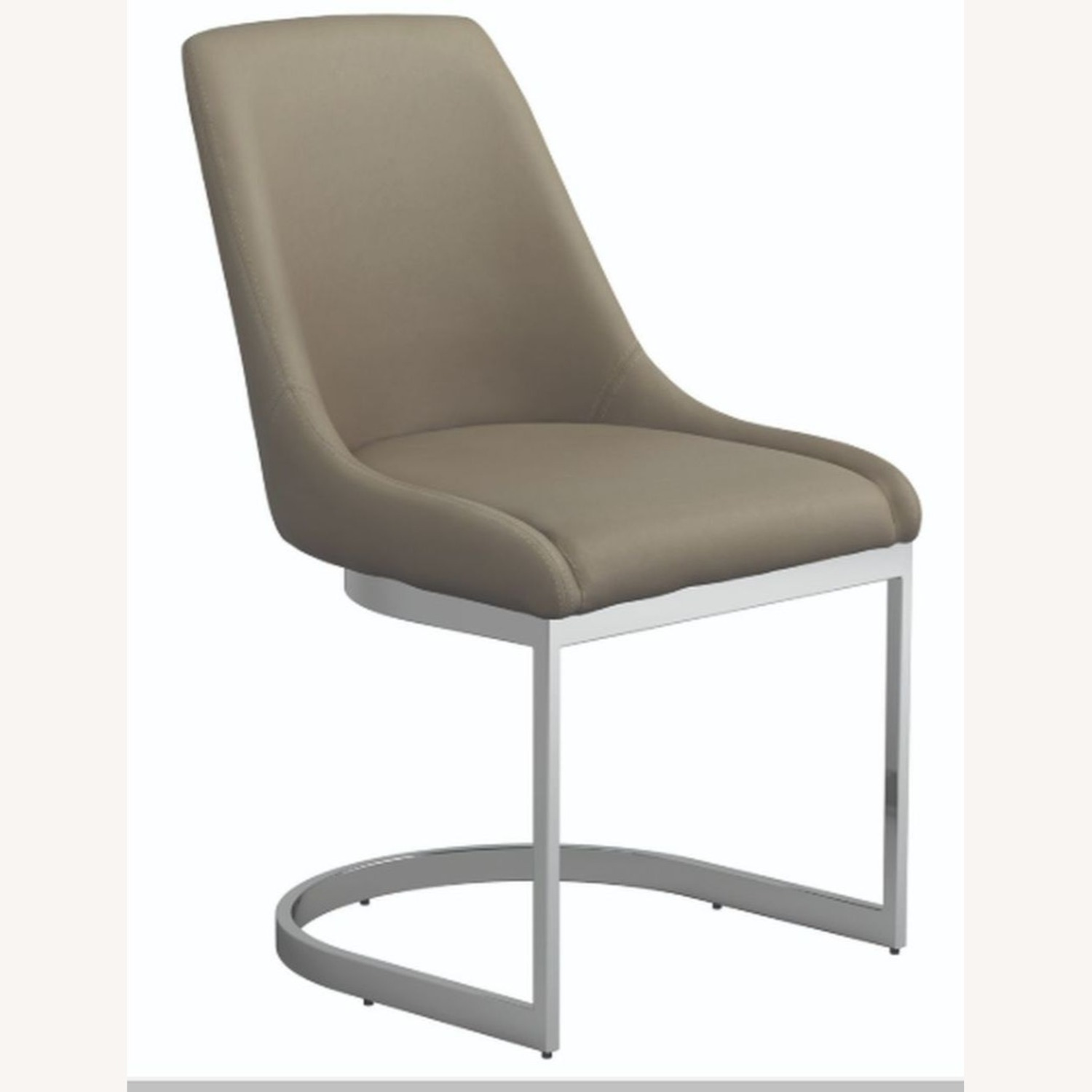 Side Chair In Taupe Leatherette - image-0