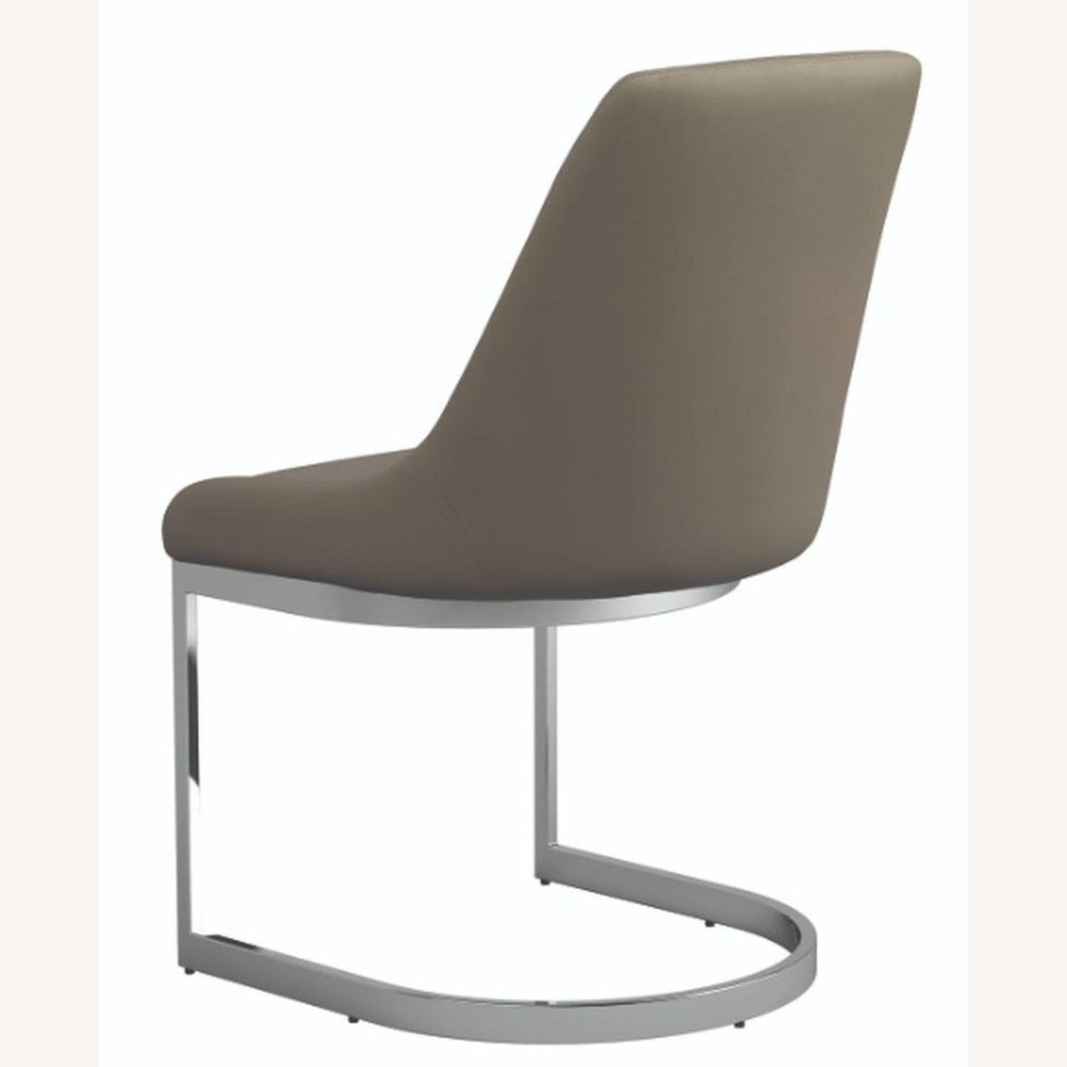 Side Chair In Taupe Leatherette - image-1