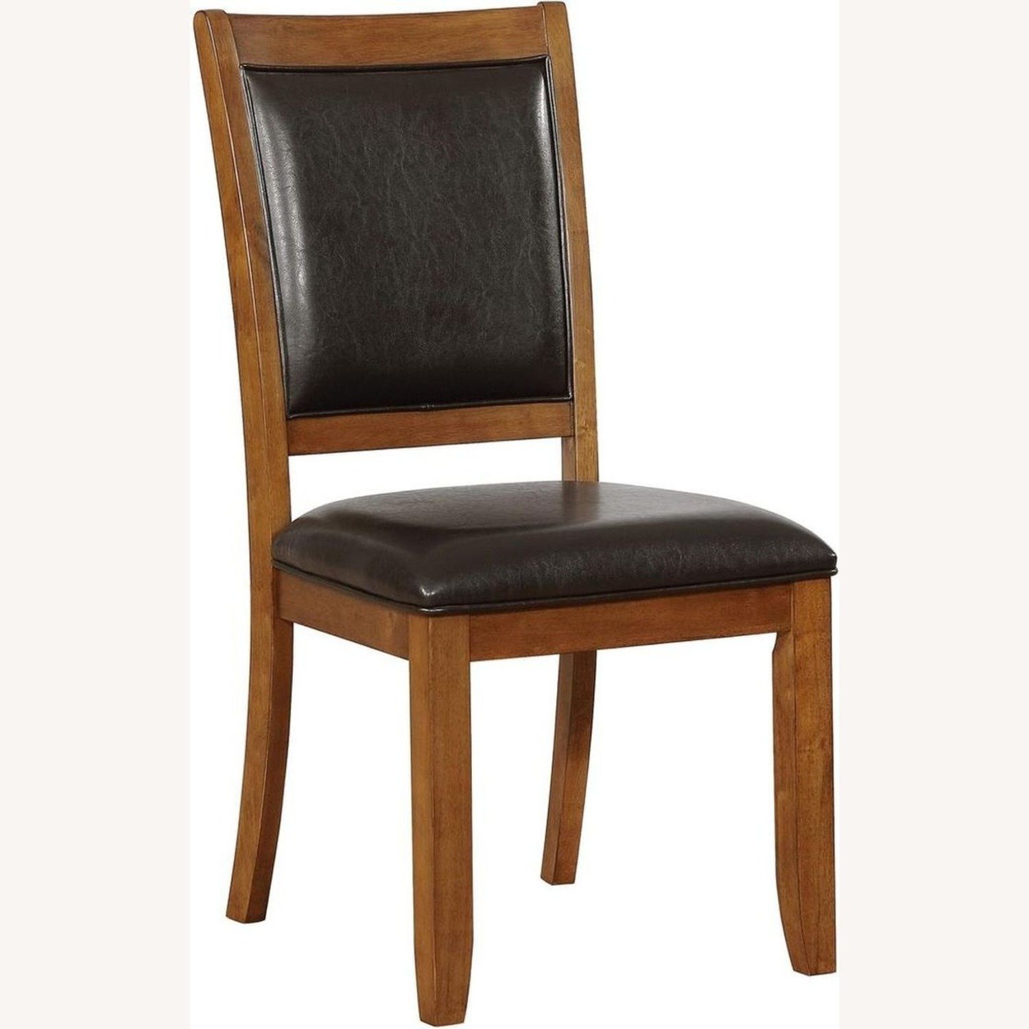 Transitional Side Chair In Black Faux Leather - image-0