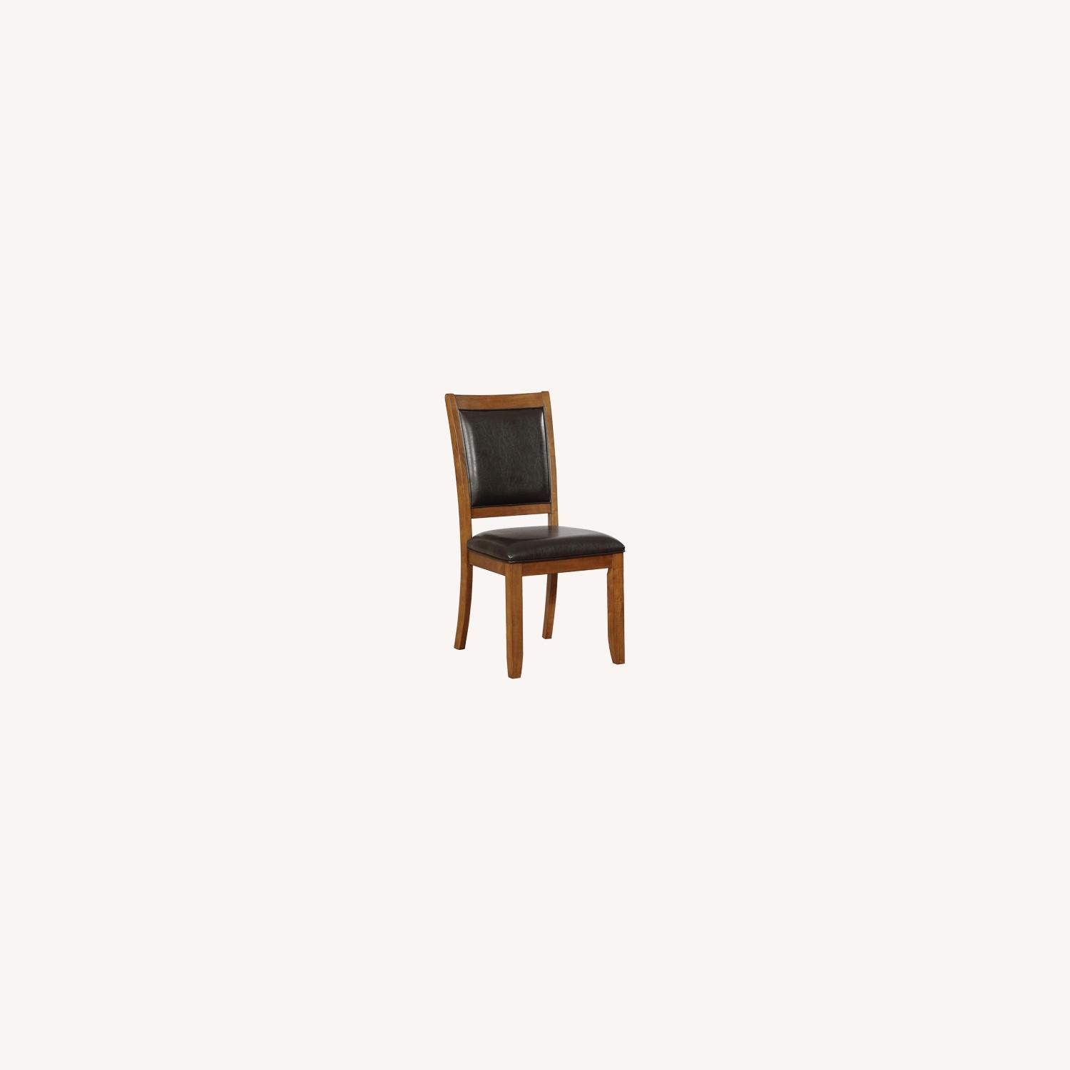 Transitional Side Chair In Black Faux Leather - image-3