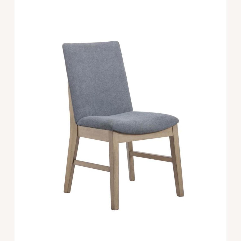 Modern Danish Style Side Chair In Denim Blue - image-0