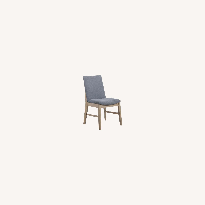 Modern Danish Style Side Chair In Denim Blue - image-4