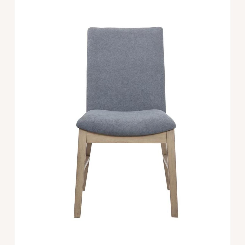 Modern Danish Style Side Chair In Denim Blue - image-1