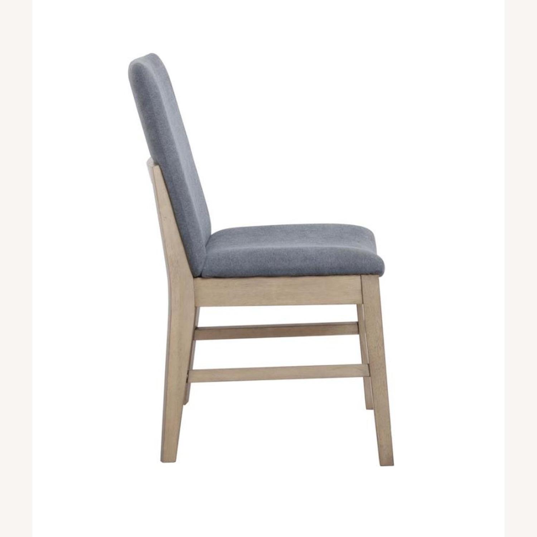 Modern Danish Style Side Chair In Denim Blue - image-2