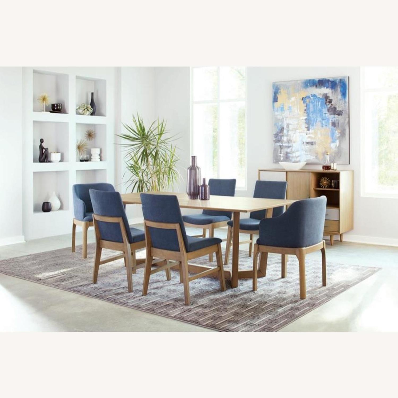 Modern Danish Style Side Chair In Denim Blue - image-3
