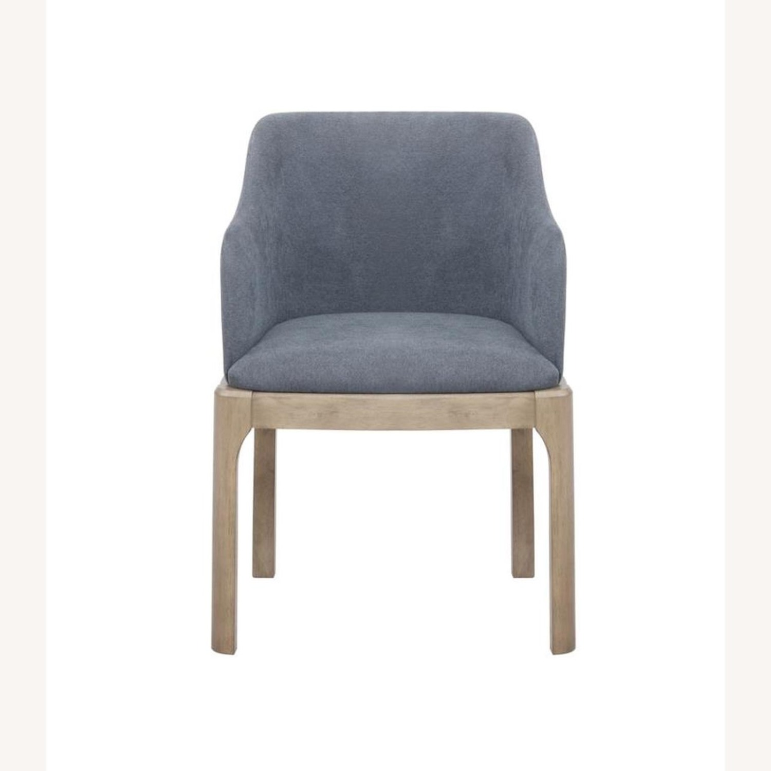 Modern Danish Style Arm Chair In Denim Blue - image-1