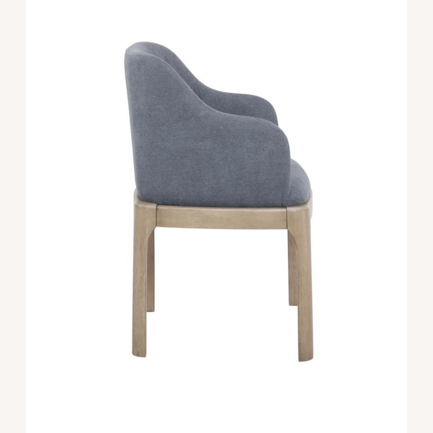 Modern Danish Style Arm Chair In Denim Blue - image-2