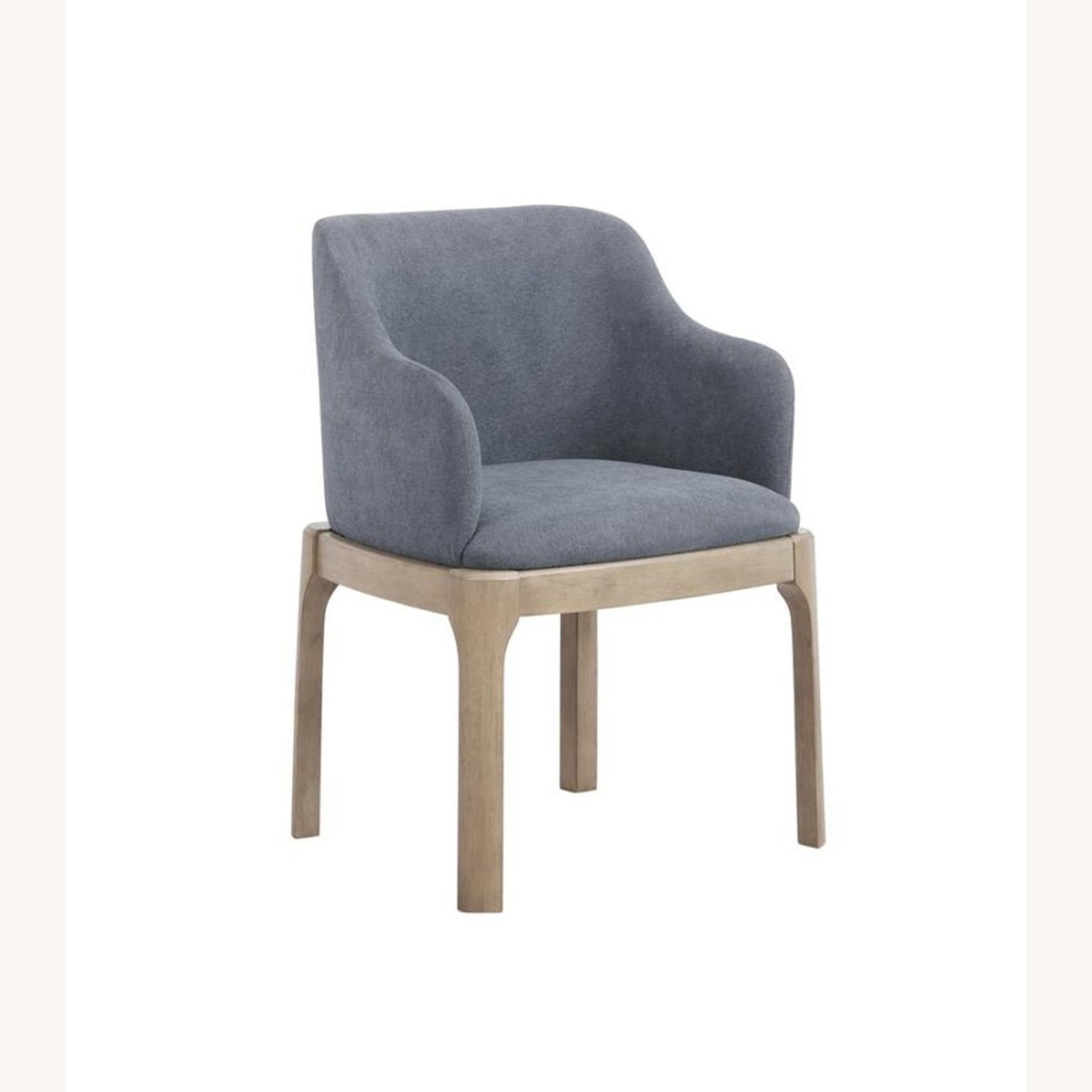 Modern Danish Style Arm Chair In Denim Blue - image-0