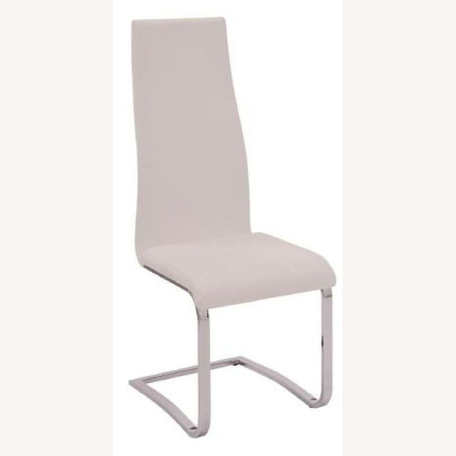 Iconic Breuer Style Side Chair In White Leather - image-0
