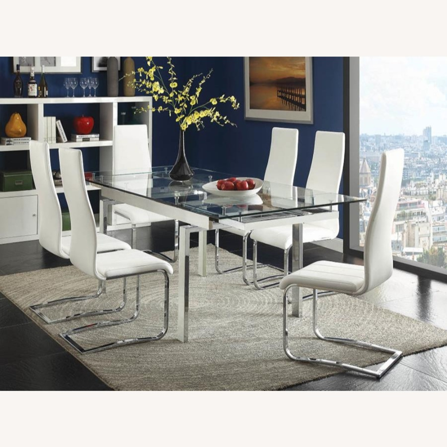 Iconic Breuer Style Side Chair In White Leather - image-3