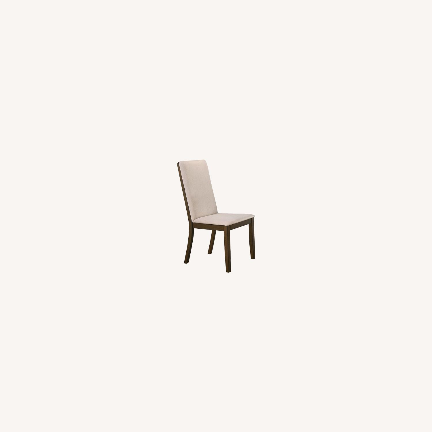 Transitional Side Chair In Latte Fabric - image-3