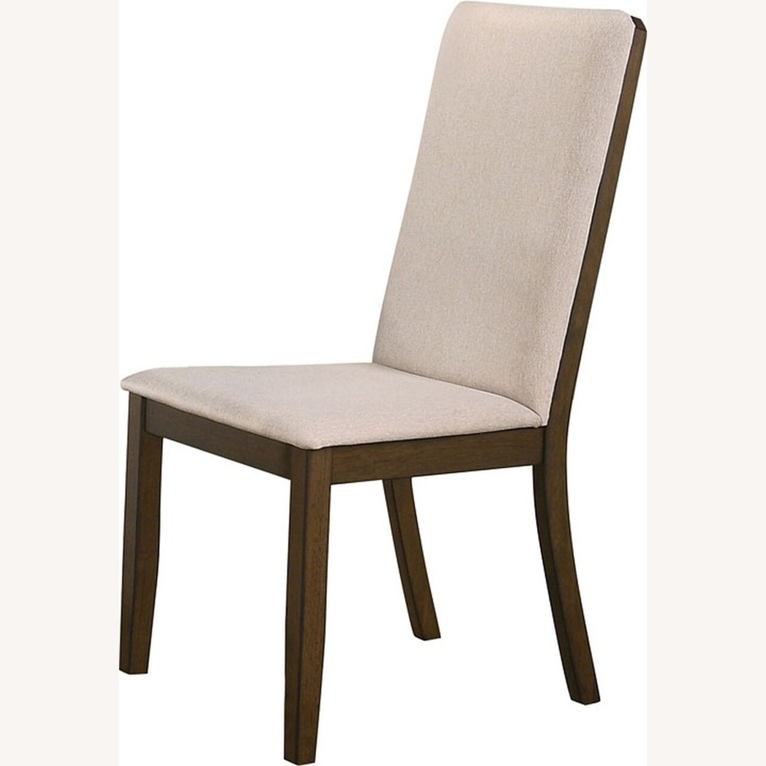 Transitional Side Chair In Latte Fabric - image-1