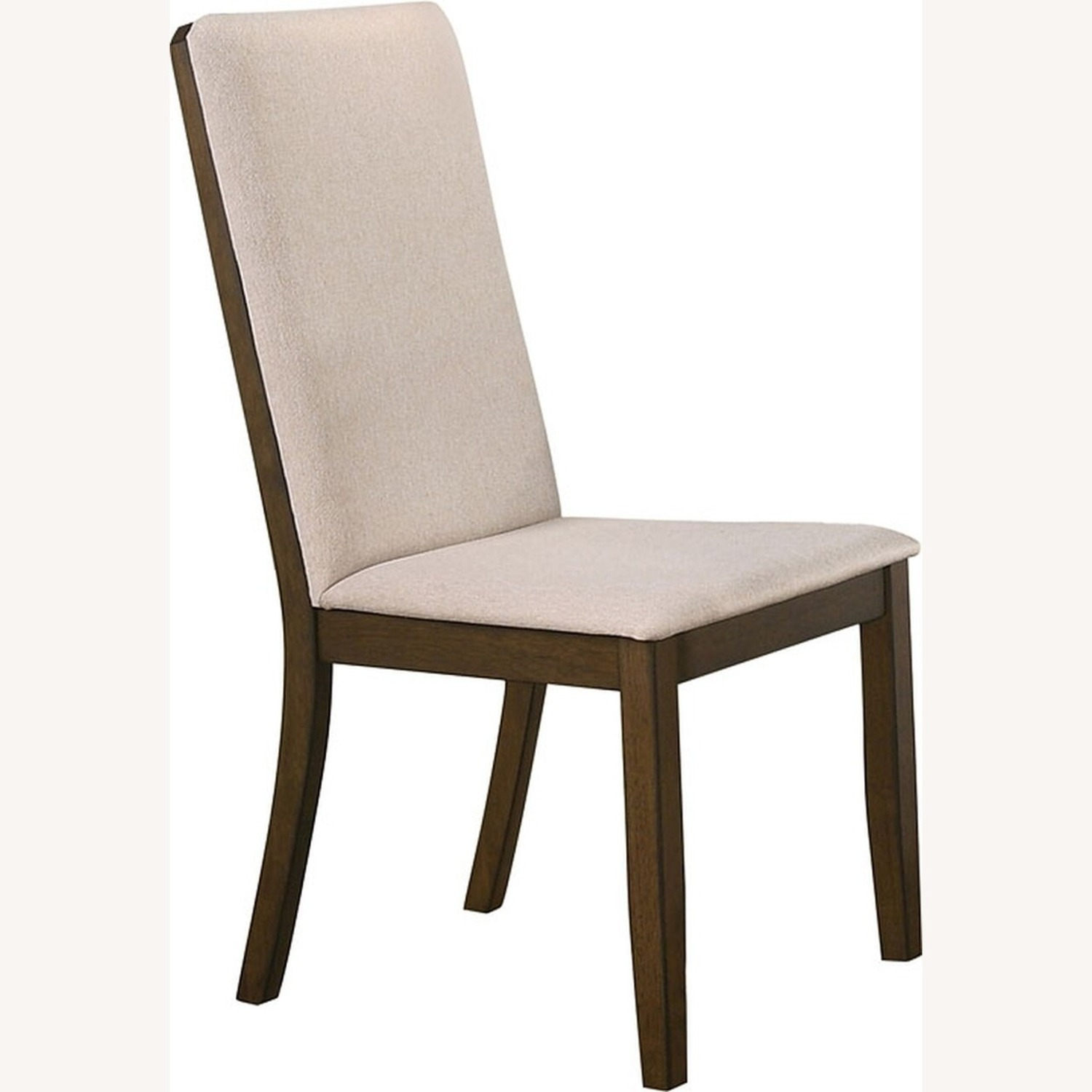 Transitional Side Chair In Latte Fabric - image-0