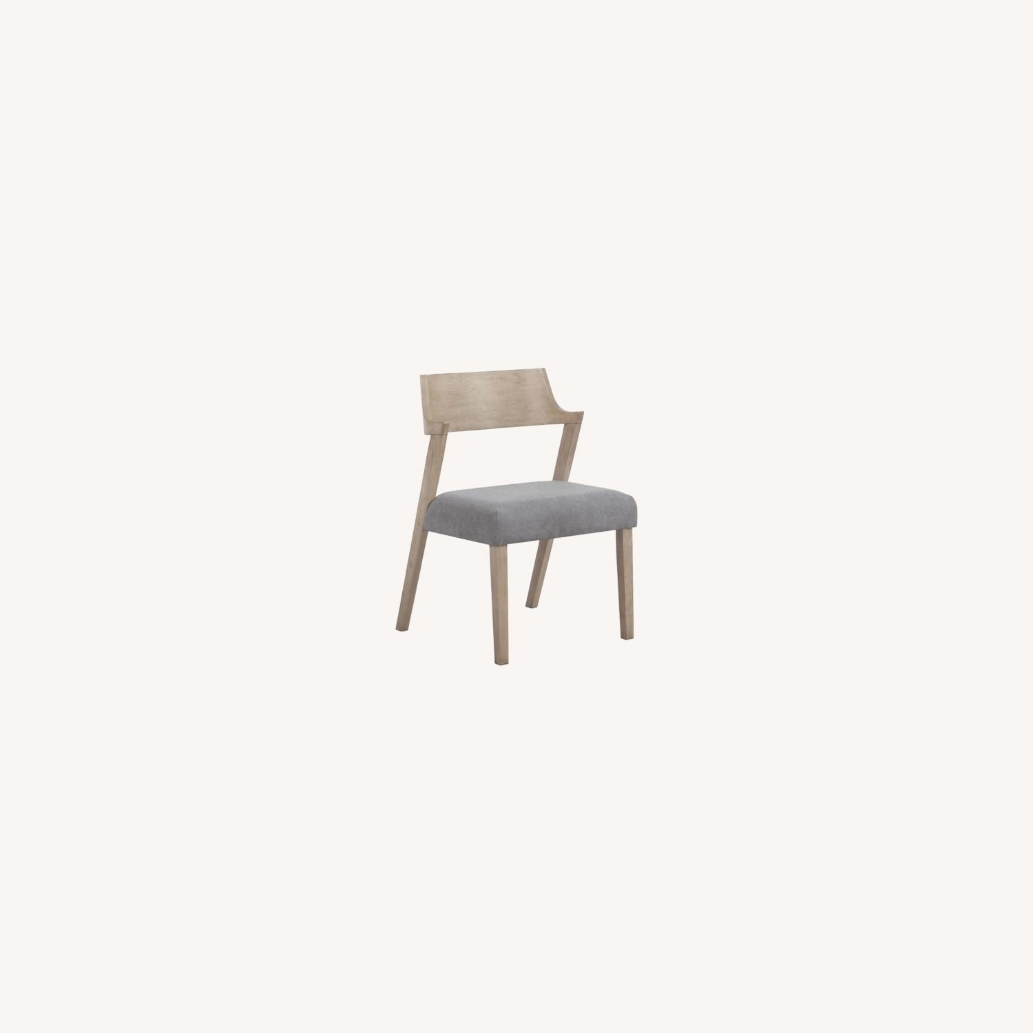Contemporary Side Chair In Grey Oak Finish - image-5