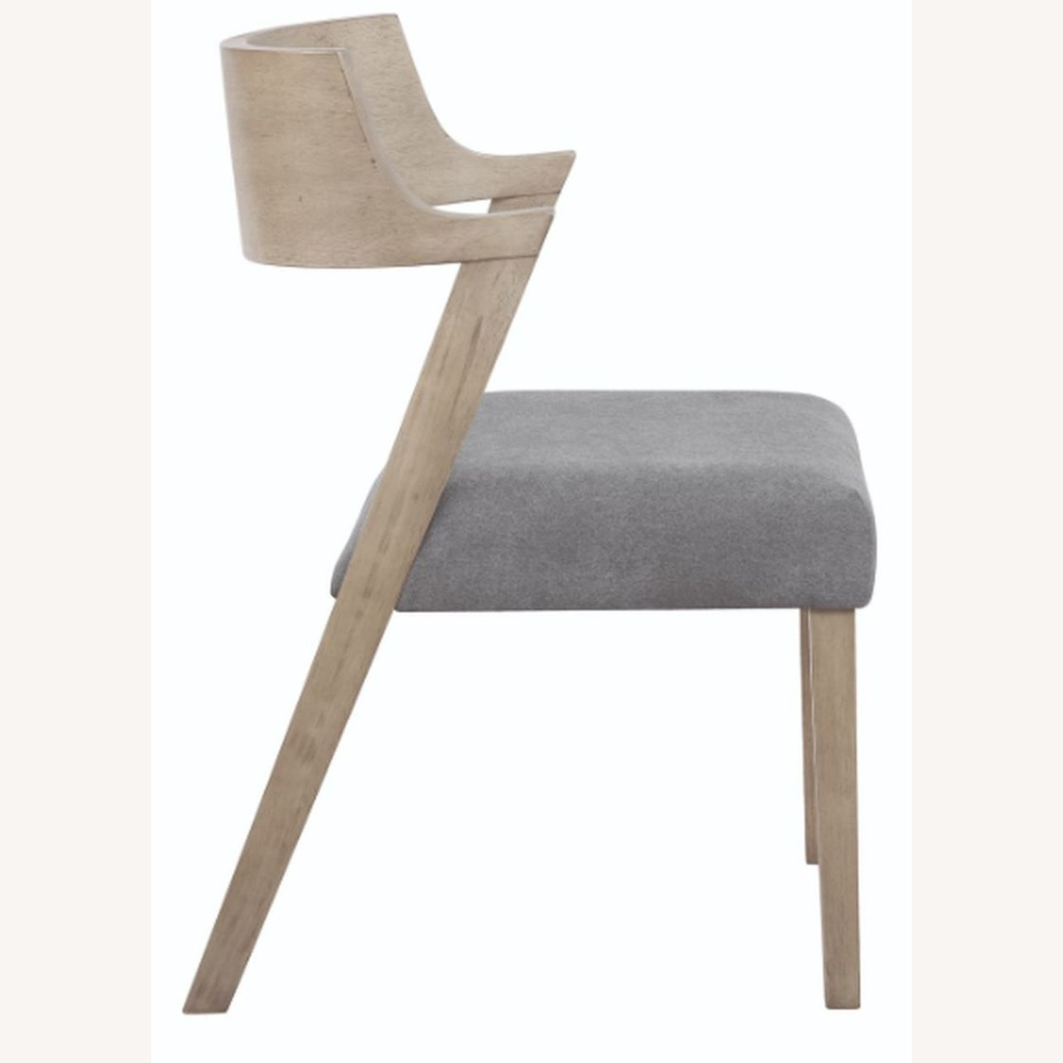 Contemporary Side Chair In Grey Oak Finish - image-2