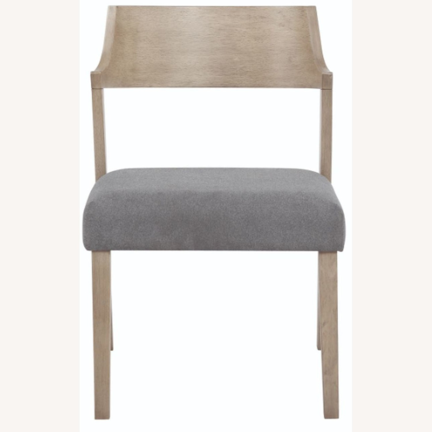 Contemporary Side Chair In Grey Oak Finish - image-1