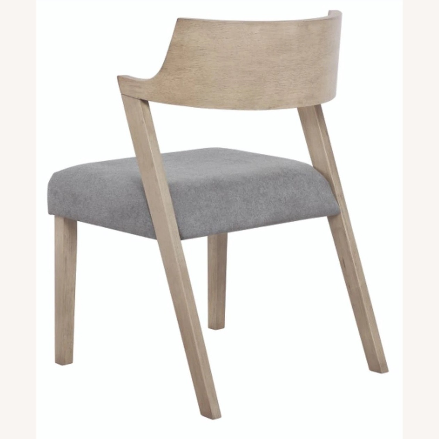 Contemporary Side Chair In Grey Oak Finish - image-3