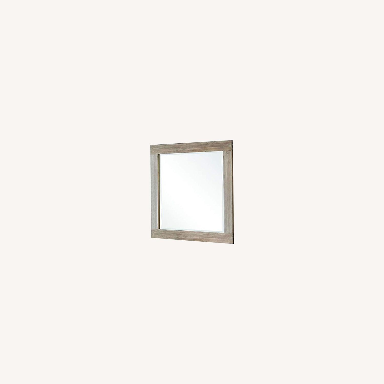 Rustic Mirror In Rough Sawn Multi - image-3