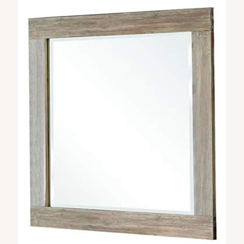Rustic Mirror In Rough Sawn Multi - image-0