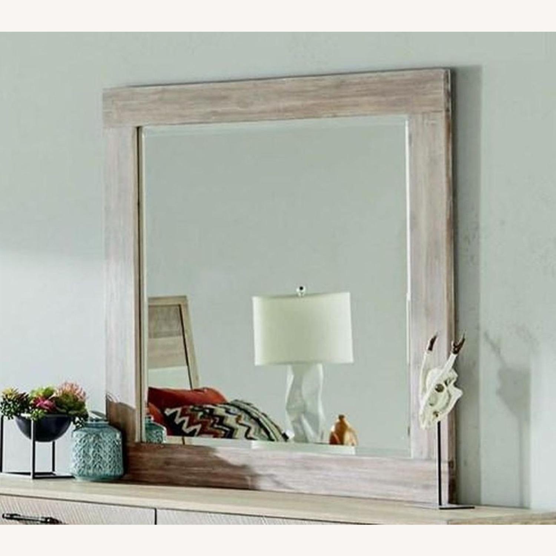 Rustic Mirror In Rough Sawn Multi - image-1