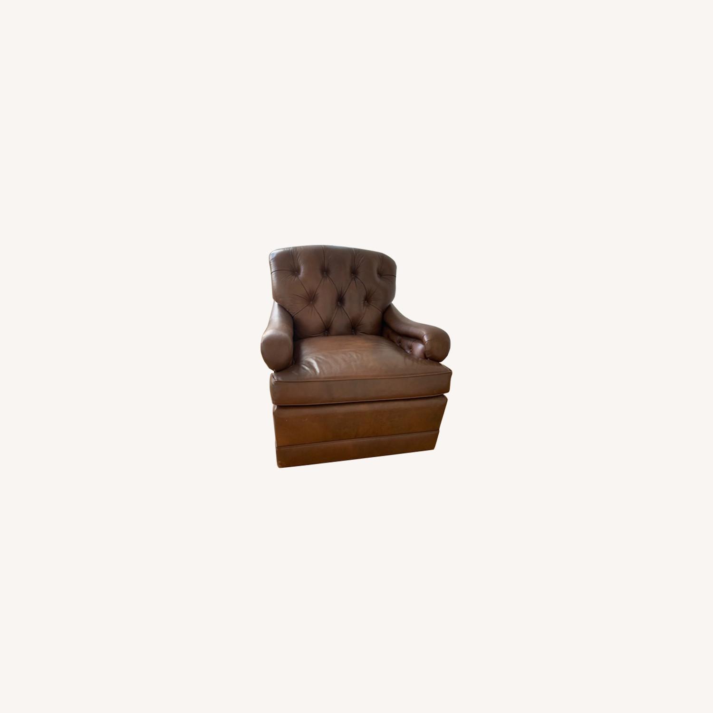 Ferrell + Mittman Leather Club Chair - image-0
